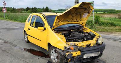 Három autó ütközött Szombathely határában – mentők, tűzoltók és rendőrök a helyszínen