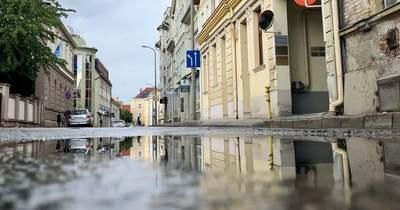 Fotók a pénteki eső után Zalaegerszegről