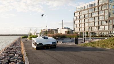 Finnország: automata utcaseprő gép takarít Helsinkiben