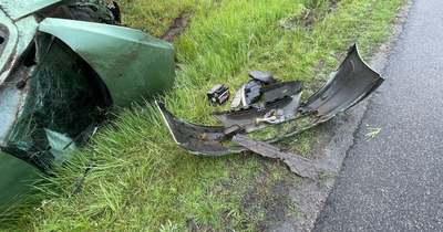 Két autó ütközött az M1-esen Győrnél – fotók