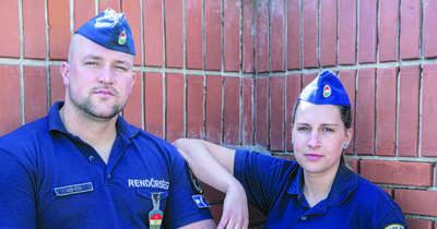 Rendőrök mentették meg az oltóorvos életét Dunaújvárosban