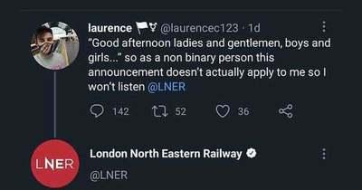 """Londonban már bocsánatot kell kérni a """"hölgyeim és uraim"""" megszólítás miatt"""