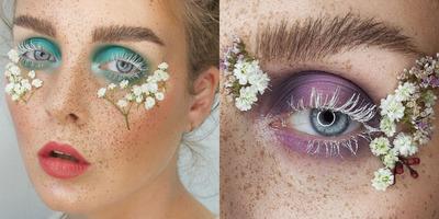 Ez a sminkes újragondolta a természetességet: valódi virágokkal dekorálja arcát - Galéria