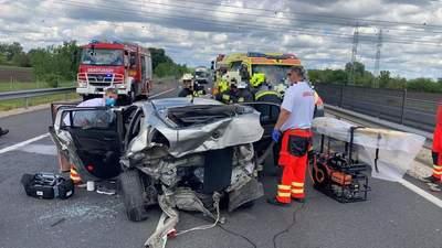 Karambol az M6-os autópályán, többen megsérültek