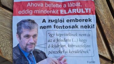 """""""Áruló Ákos"""" – Beindult az előválasztási kampány, Hadházyt gyalázó szórólapok terjednek Zuglóban"""