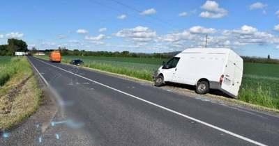 Autóval ütközött egy tehergépkocsi Óhíd felől Gógánfa irányába
