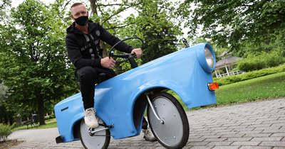 Nem mindennapi Trabant-biciklit készített a gyulai ezermester