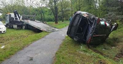 Sztrádáról lezuhant autó, négyes karambol – brutális a hétfő az M1-esen