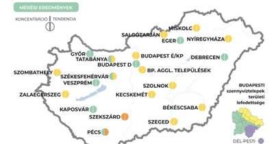 Megjelent a legújabb adatokkal az országos szennyvíztérkép