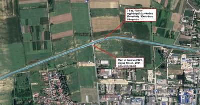 Keddtől forgalomkorlátozás várható a 71-es főút Keszthely – Rezi úti csomópontjában