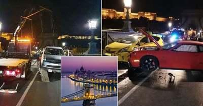 Rommá zúzta a luxusautót a részeg sofőr a Lánchídon – Fotók!
