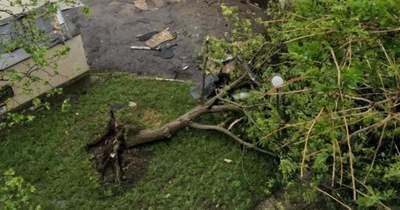 Lecsapott a vihar, pusztított az orosházi Hajnal lakótelepen