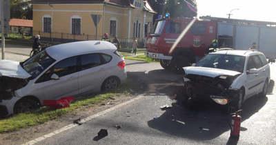 Az árokba csapódott egy autó Böhönyén