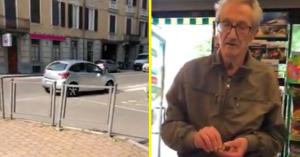 Az idős úr bement a boltba, addig leparkolta a kocsit a forgalom kellős közepén – VIDEÓ