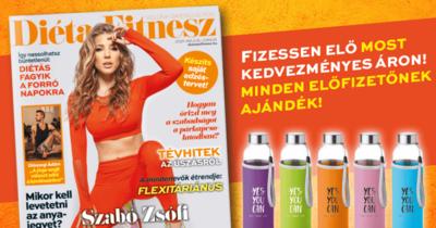 Megjelent az új Diéta és Fitnesz magazin, a címlapon Szabó Zsófival