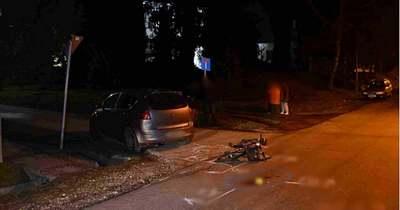 A biciklis súlyosan megsérült a nagykanizsai balesetben