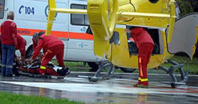 Súlyos baleset Simontornyánál: mentőhelikopter jött a sérültért