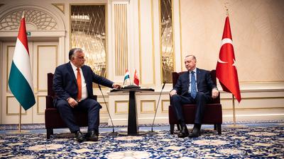 Orbán Viktor miniszterelnök a török államfővel tárgyalt