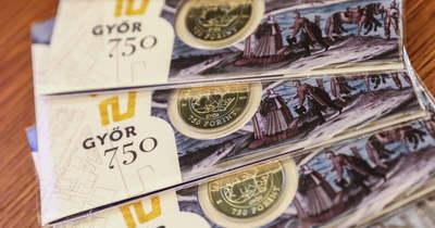 Győr 750 – Bemutatták a város pénzét – fotók, videók