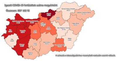 Így változott az újonnan regisztrált fertőzöttek száma a Jászkunságban