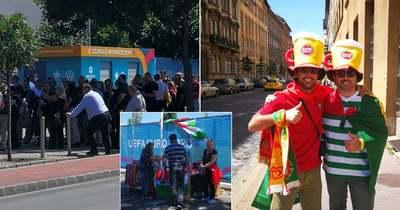 Felbolydult Budapest – Gyülekeznek a szurkolók, üzentek is a portugálok