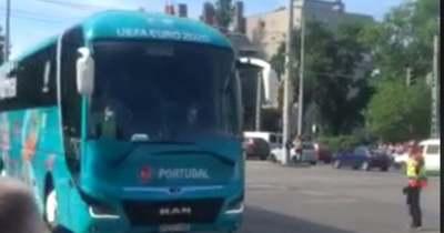Ezekben a percekben érkeztek meg a portugál játékosok a Puskás Arénába – Videó!