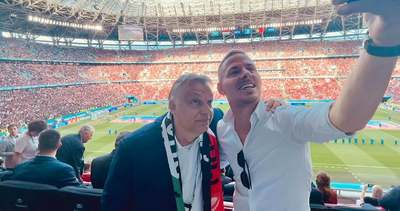 Orbán Viktor nem akárkivel találkozott a Puskásban