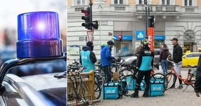 Megtámadtak egy ételfutárt a Boráros téren, négyen rugdalták az utca közepén