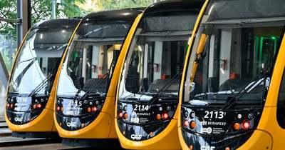 26 új CAF villamos érkezett Budapestre