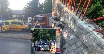 Megszereztük a Pusztaszeri úti baleset felvételét, az autó elsodort egy padot és négy embert
