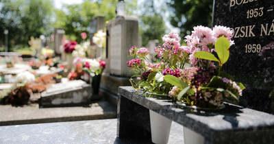 Elképesztő: virágokat lopnak az egri temetőkből