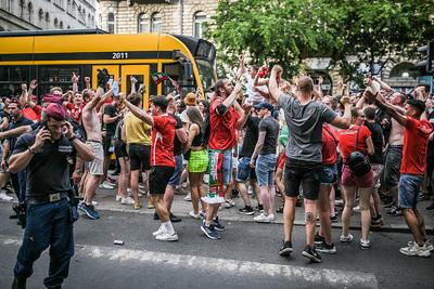 Így ünnepeltek a magyar szurkolók Budapest utcáin a világbajnok elleni fantasztikus siker után