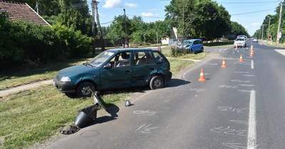 Nem adott elsőbbséget, nekiütközött egy másik autónak Csabaszabadiban