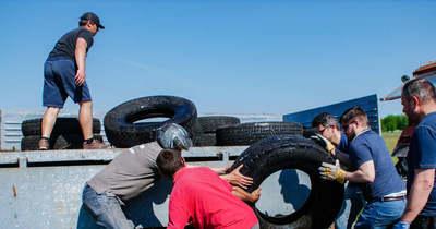 Illegális gumilerakatot számoltak fel a jakabszállási quadosok
