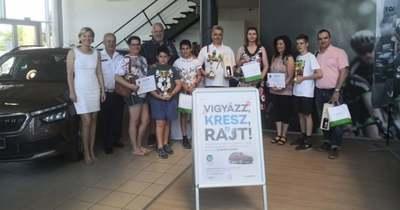 Eredményesen szerepelt a Kővári család a közlekedési versenyben