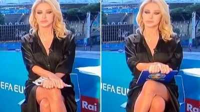 Szerencsére volt bugyi az olasz riporternőn, aki Sharon Stone-nak képzelte magát - videó