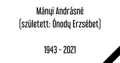 Elhunyt Mányi Andrásné, a Dunaújvárosi Egyetem egykori jogelődjének csoportvezetője
