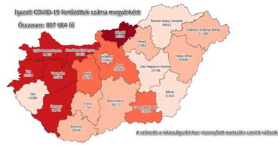 Minimálisan nőtt a fertőzöttek száma Békés megyében