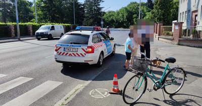 Szabálytalan biciklis ütött el nagymamát és az unokáját Szombathelyen