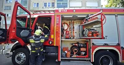 Kigyulladt légkondicionálót oltottak a halasi tűzoltók
