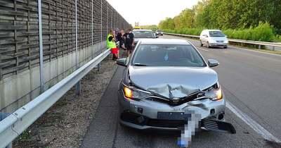 Négy autó ütközött az M5-ös autópályán, Kiskunfélegyháza határában