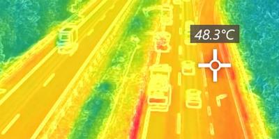 Ritkán látható, hőkamerás felvételeket tettek közzé az M7-esről, ekkora forróság van - videó