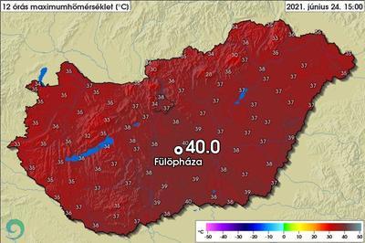 Megdőlt a melegrekord: 40 fok volt Fülöpházán