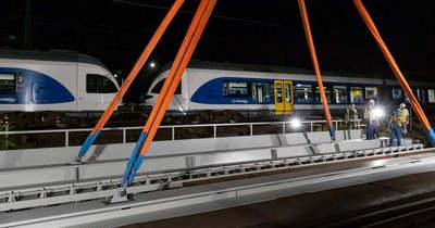 Új vasúti híd Budapesten