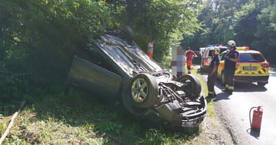 Felborult egy autó Nárainál, a járműből előmászó ittas férfi szerint nem ő vezetett