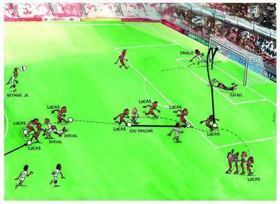 Mesék nagy gólokról: Lucas Moura a Santos ellen