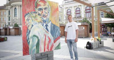 Egri festő örökítette meg az Eb ikonikus pillanatát: így még nem láttad Schäfert és Rossit