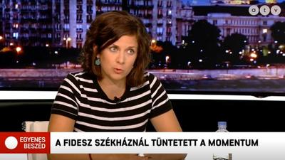 Orosz Anna szerint sem volt óriási a Momentum hétfői tüntetése