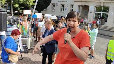 Rasszista atrocitások érték a Dobrev Klára ellen tüntető romákat Baranyában