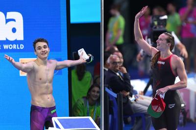 Megható pillanatok: Az olimpiai bajnok Milák Kristóf vigasztalta a csalódott Hosszú Katinkát - fotók